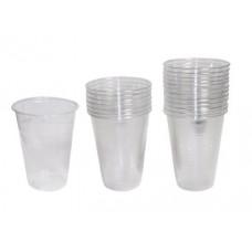 Disposable Cups Transparent pkg/100